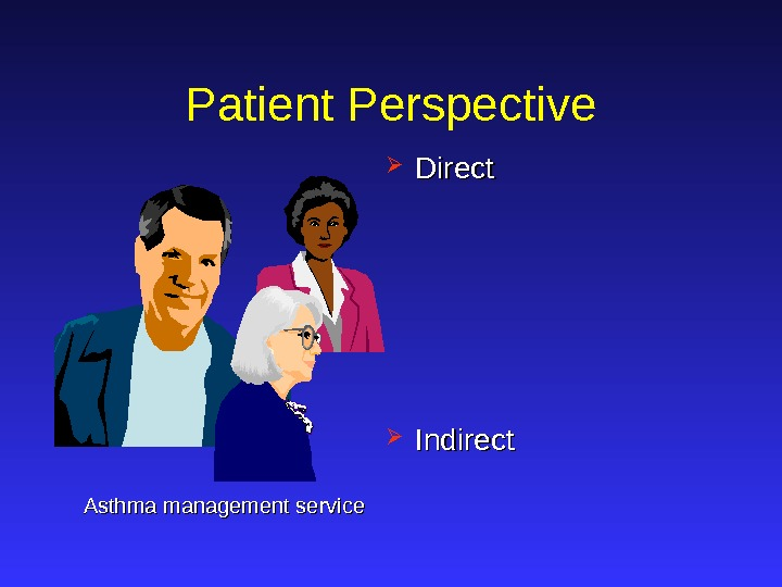 Patient Perspective Direct  Indirect Asthma management service