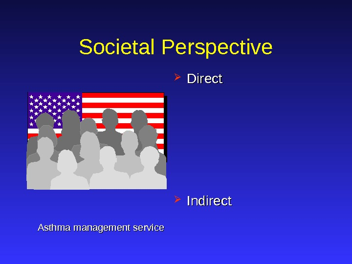 Societal Perspective Direct Indirect Asthma management service