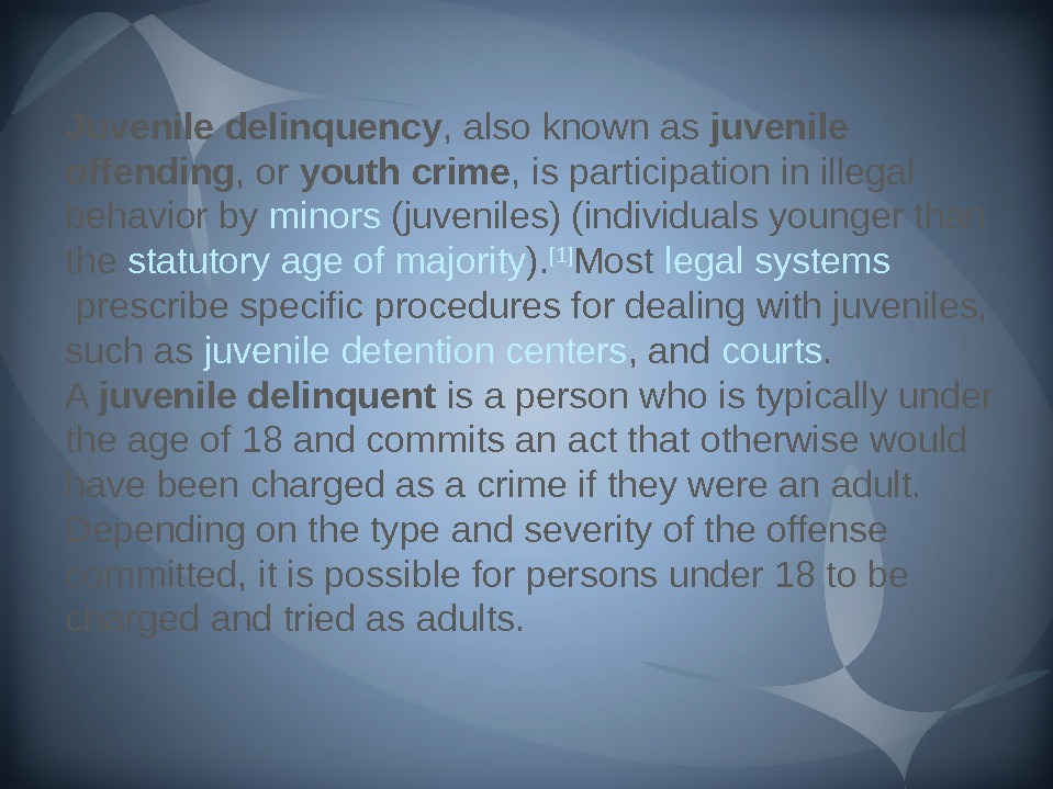Juvenile delinquency , also known as juvenile offending , or youth crime , is participation in
