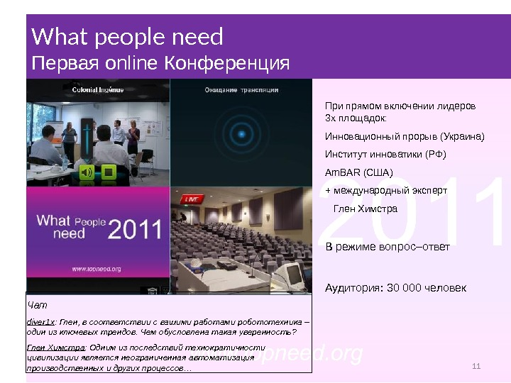 What people need Прес-конференція What people need Первая online Конференция Чат diver 1 x :