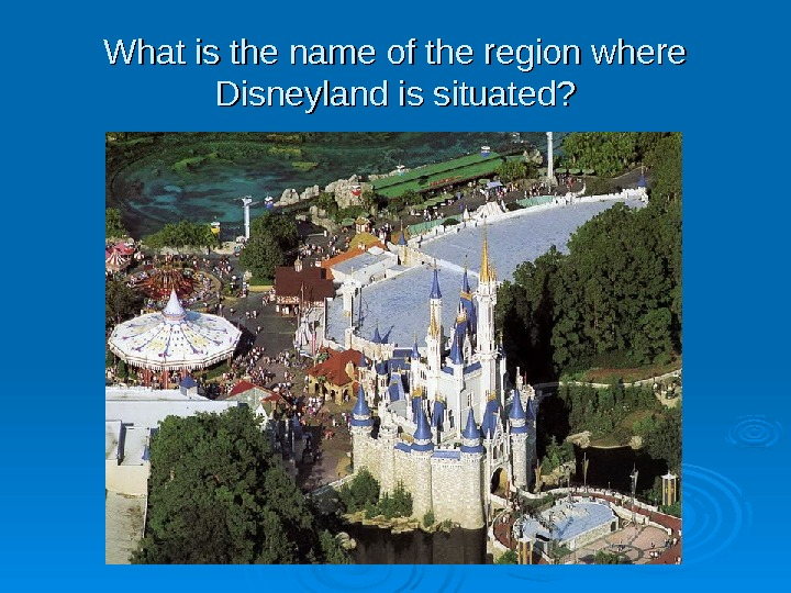 What is the name of the region where Disneyland is situated?