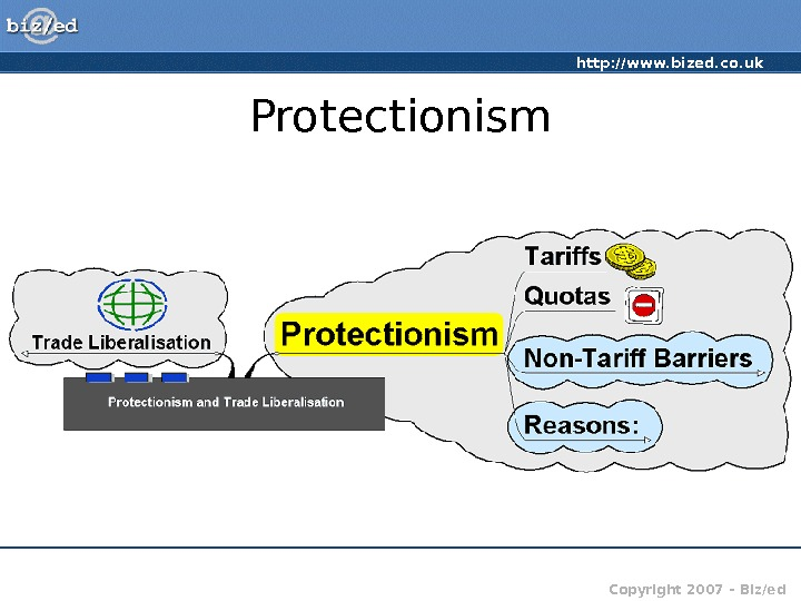 http: //www. bized. co. uk Copyright 2007 – Biz/ed. Protectionism