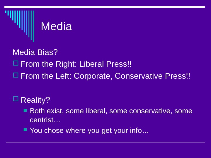 Media Bias?  From the Right: Liberal Press!! From the Left: Corporate, Conservative Press!!