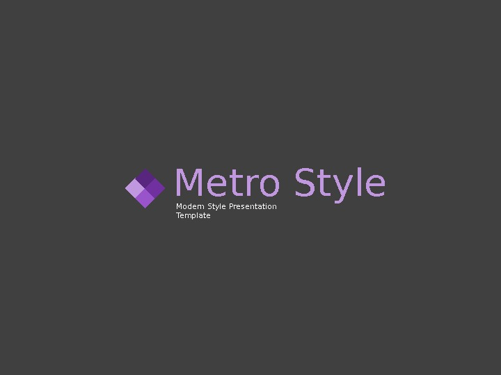 Metro Style Modern Style Presentation Template