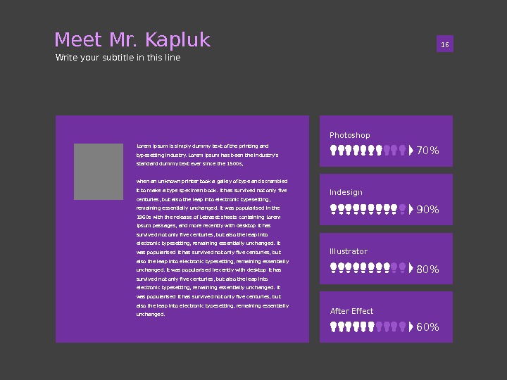Photoshop Indesign Illustrator After Effect 01 16 Meet Mr. Kapluk Write your subtitle in this line