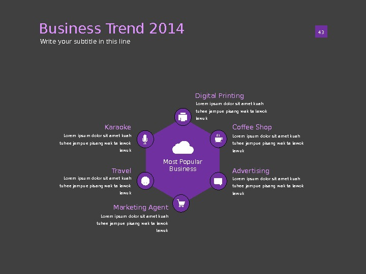 Business Trend 2014 01 43 Write your subtitle in this line Most Popular Business Lorem ipsum