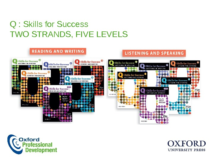 Q : Skills for Success TWO STRANDS, FIVE LEVELS