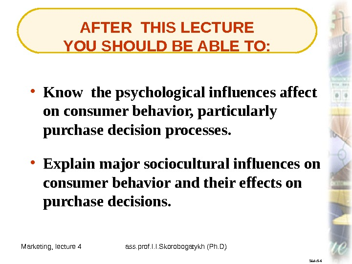 Marketing, lecture 4 ass. prof. I. I. Skorobogatykh (Ph. D) 3 Slide 5 -6 AFTER THIS