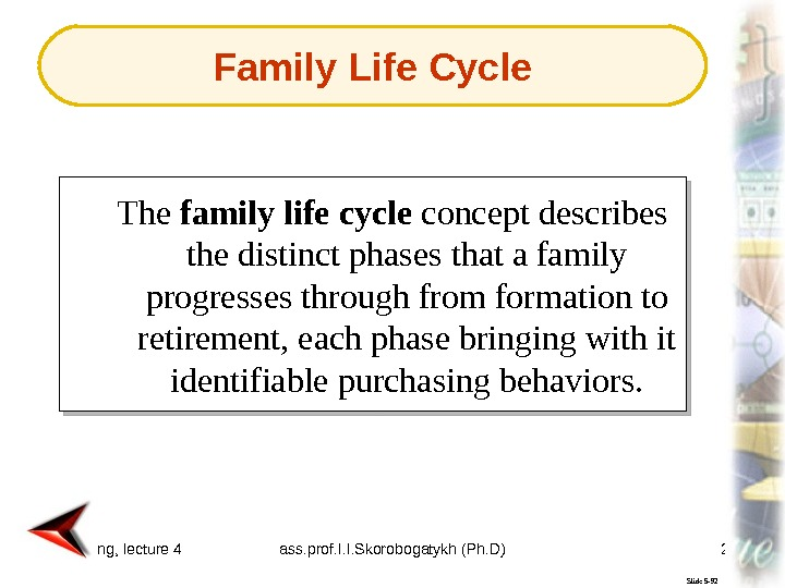 Marketing, lecture 4 ass. prof. I. I. Skorobogatykh (Ph. D) 29 Slide 5 -92 The family