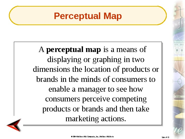 © 2004 Mc. Graw-Hill Companies, Inc. , Mc. Graw-Hill/Irwin Slide 9 -72 A perceptual map is
