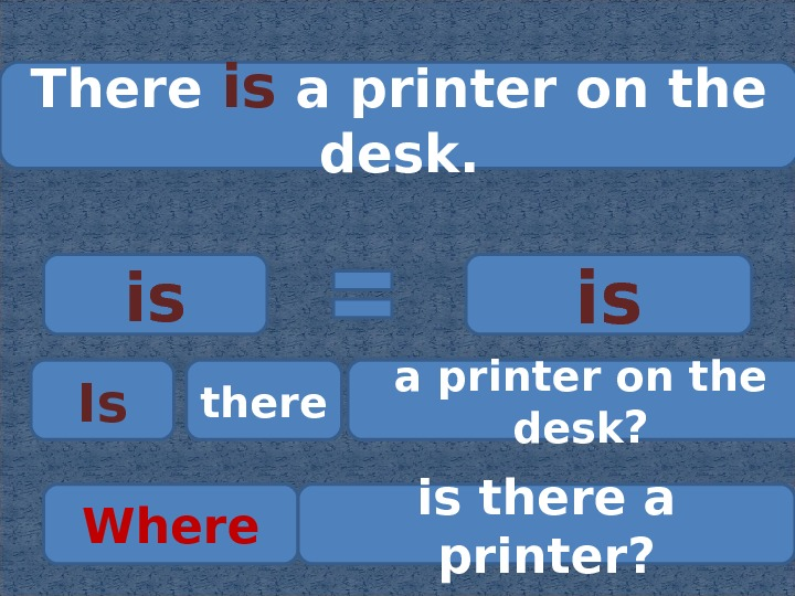 There is a printer on the desk. is is Is there a printer on the desk