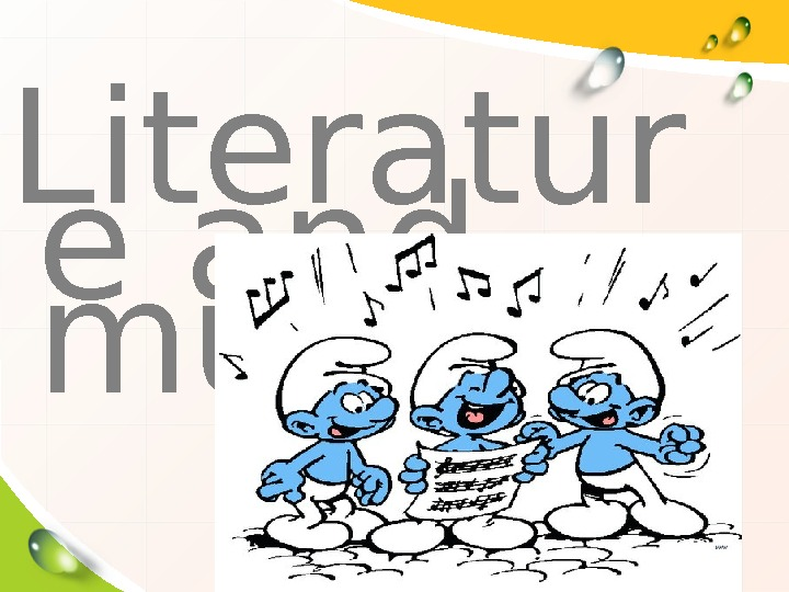 Literatur e and music