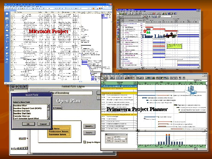 Microsoft Project Time Line Primavera Project Planner. Open Plan 103103