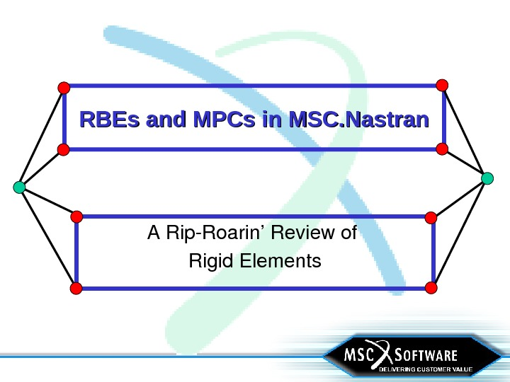 RBEs and MPCs in MSC. Nastran ARip. Roarin'Reviewof Rigid. Elements