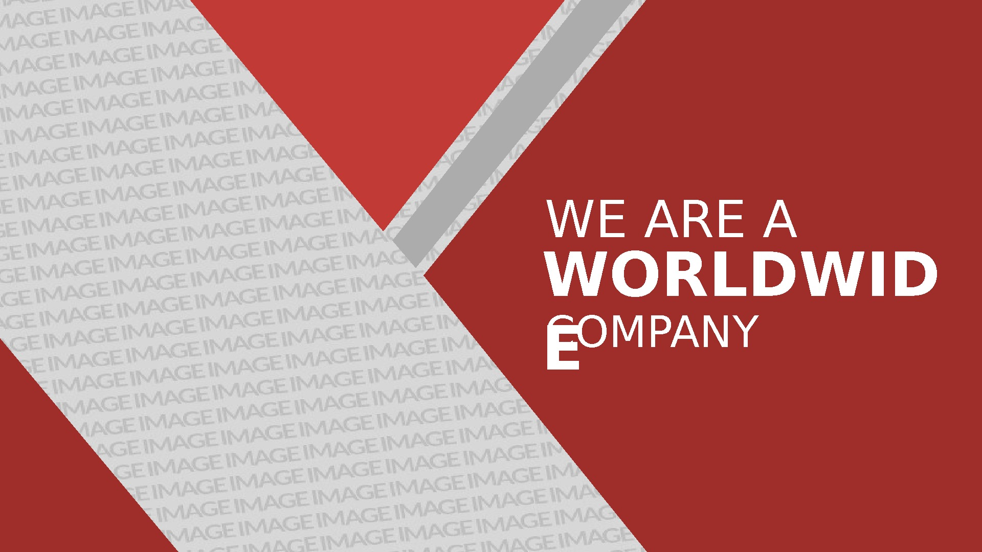 WE ARE A WORLDWID E COMPANY