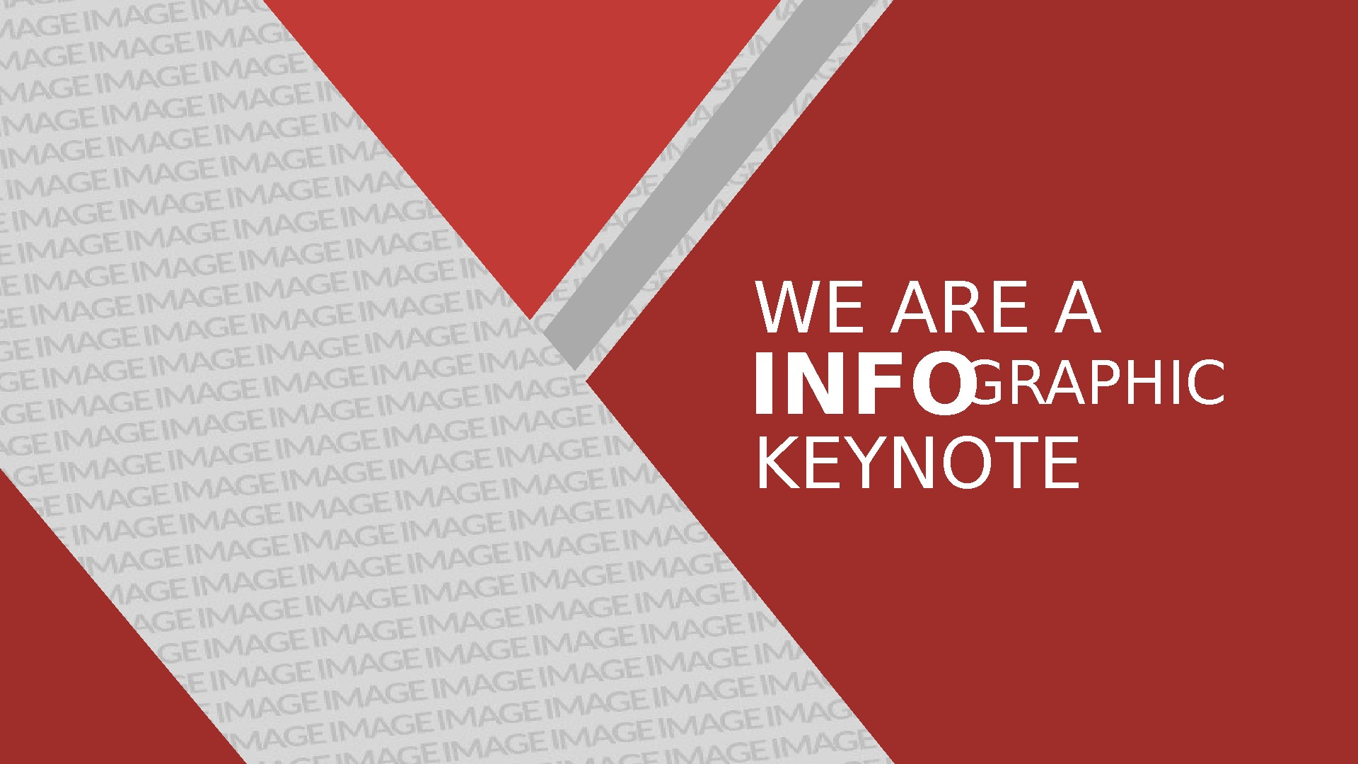WE ARE A INFO GRAPHIC KEYNOTE