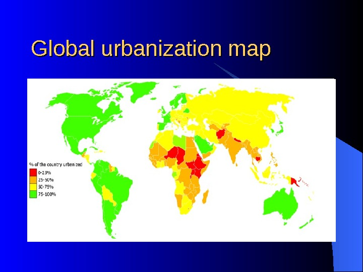 Global urbanization map