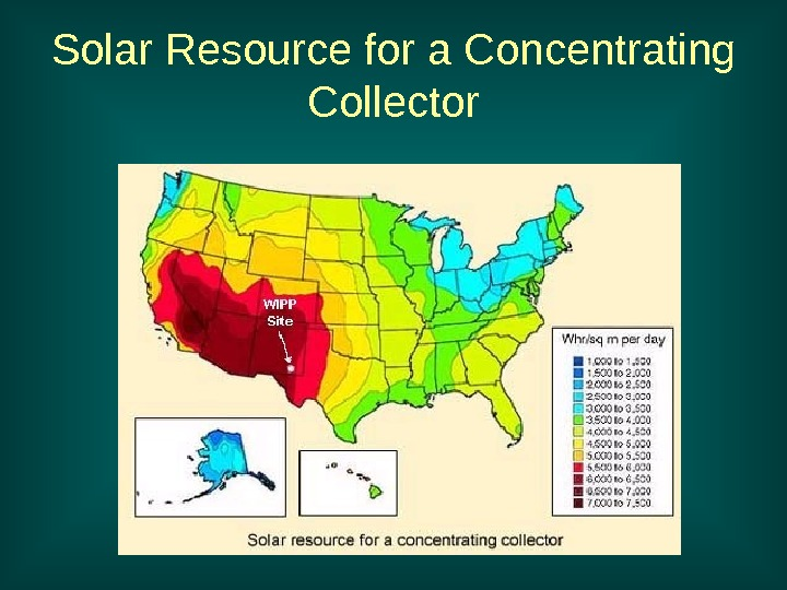 Solar Resource for a Concentrating Collector