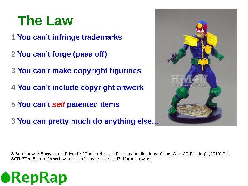 The Law 1  You can't infringe trademarks 2  You can't forge (pass