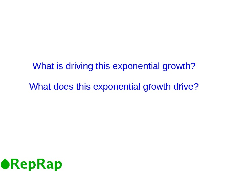 What is driving this exponential growth? What does this exponential growth drive?