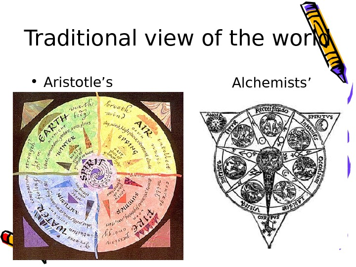 Traditional view of the world • Aristotle's Alchemists'