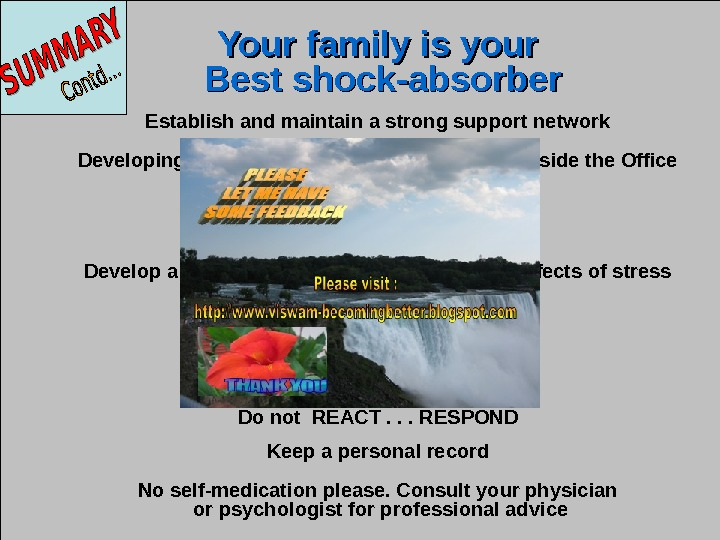 Jan 20, 2016  42 Your family is your  Best shock-absorber Establish and maintain a