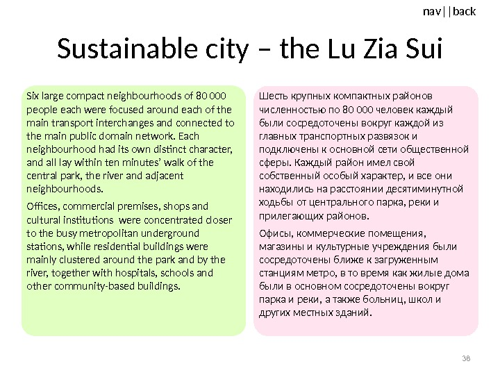 nav ||back Sustainable city – the Lu Zia Sui Six large compact neighbourhoods of 80 000