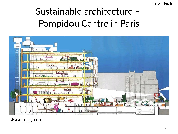 nav ||back Sustainable architecture – Pompidou Centre in Paris 58 Жизнь в здании