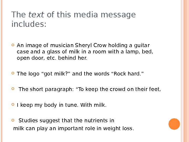 The text of this media message includes:  An image of musician Sheryl Crow holding a
