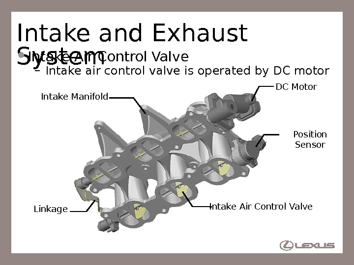 40 Intake and Exhaust System Intake Air Control Valve – Intake air control valve is operated