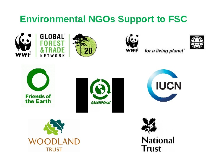 Environmental NGOs Support to FSC
