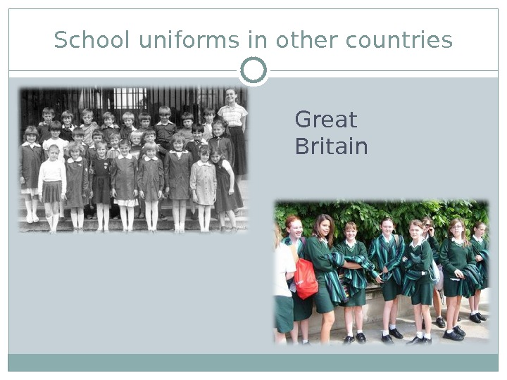 School uniforms in other countries Great Britain