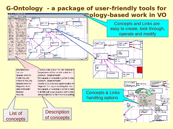 G-Ontology  - a package of user-friendly tools for ontology-based work in VO Concepts
