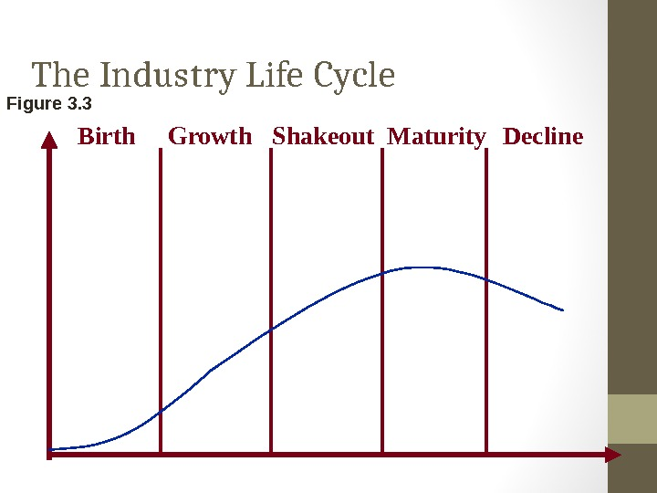 The Industry Life Cycle Figure 3. 3 Birth Growth Shakeout Maturity Decline
