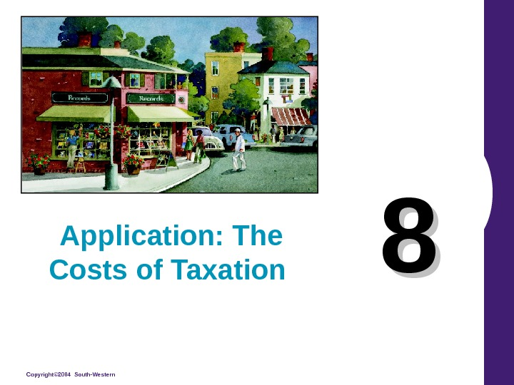 Copyright© 2004 South-Western 88 Application: The Costs of Taxation