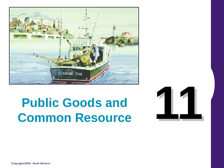 Copyright© 2004 South-Western 1111 Public Goods and Common Resource