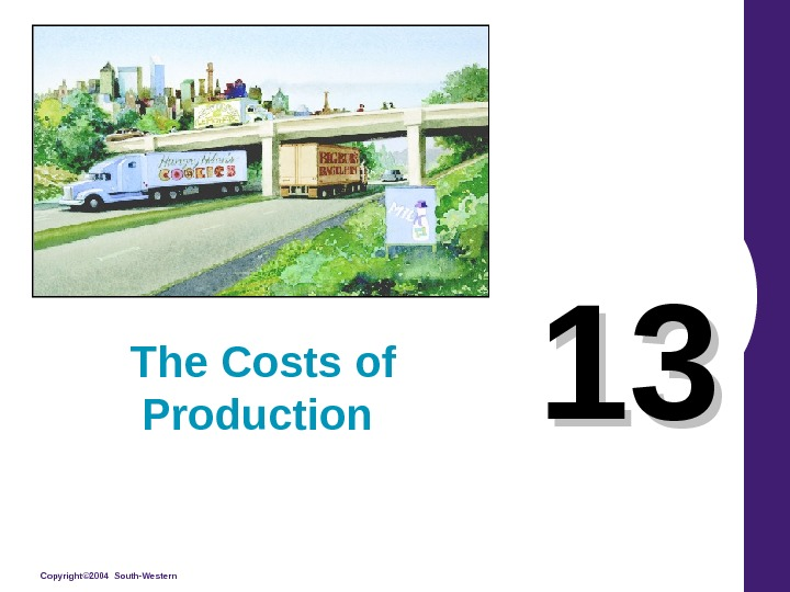 Copyright© 2004 South-Western 1313 The Costs of Production
