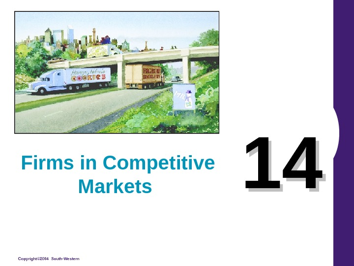 Copyright© 2004 South-Western 1414 Firms in Competitive Markets