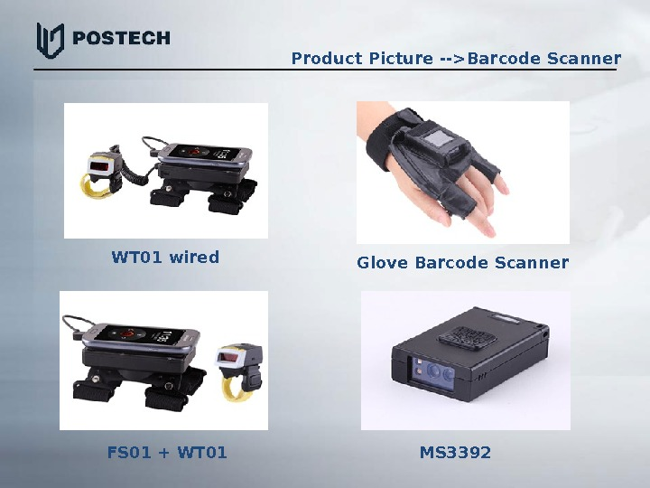 WT 01 wired Glove Barcode Scanner FS 01 + WT 01  MS 3392 Product