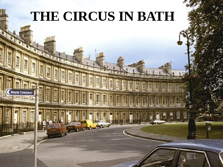 THE CIRCUS IN BATH