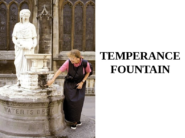 TEMPERANCE FOUNTAIN
