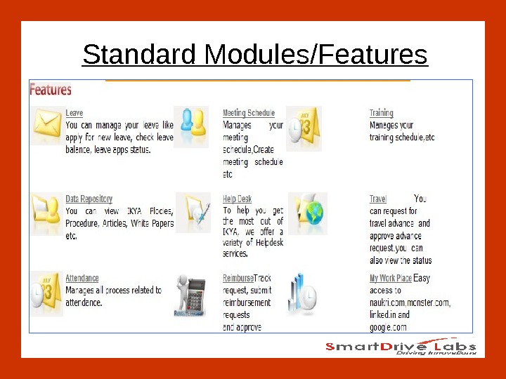 Standard Modules/Features