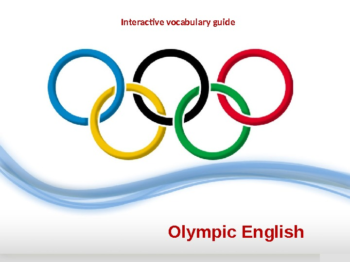 Olympic English Interactive vocabulary guide