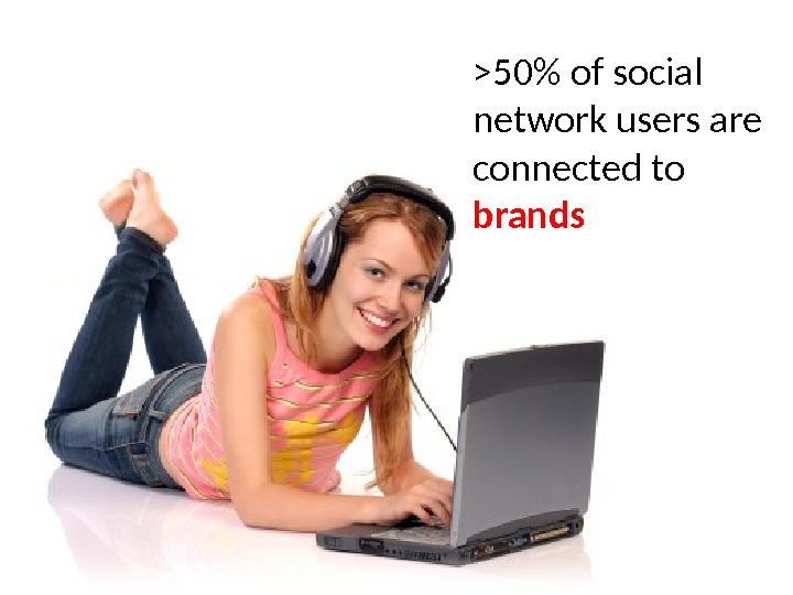 50 of social network users are connected to brands
