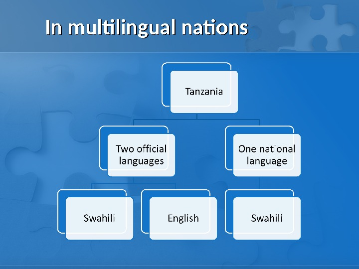 In multilingual nations