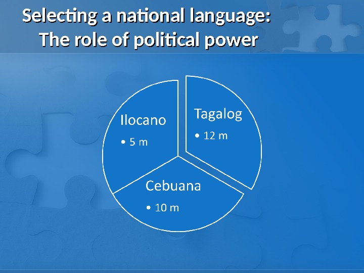 Selecting a national language:  The role of political power