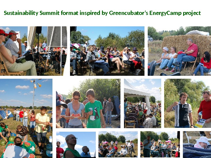 Sustainability Summit format inspired by Greencubator's Energy. Camp project