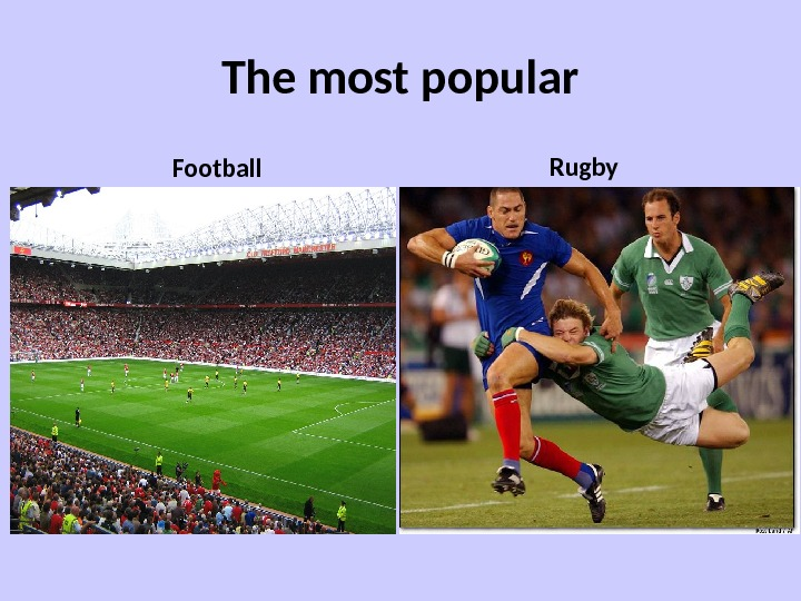 The most popular Football Rugby