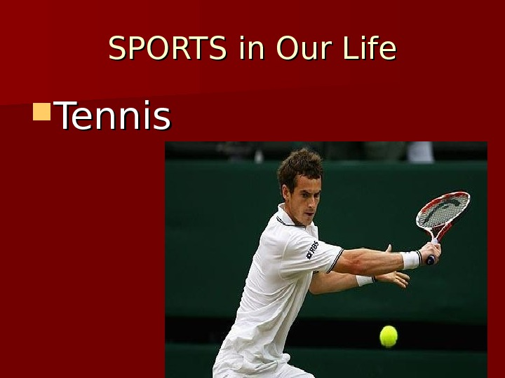 SPORTS in Our Life Tennis