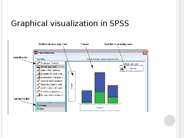 Graphical visualization in SPSS
